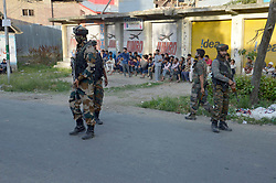 June 15, 2017 - Kulgam, India - Suspected militants Thursday shot and killed a policeman in south Kashmir's Kulgam district, some 60 kilometers from summer capital of Indian occupied Kashmir. The source said Shabir Ahmad Dar resident of Bogund village had come to the home on leave where he was shot at close range.Shabir according to local sources was immediately shifted to hospital where doctors declared him brought dead. (Credit Image: © Aasif Shafi/Pacific Press via ZUMA Wire)