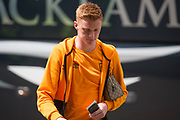 Hull City Midfielder Sam Clucas (11) arrives ahead of the Premier League match between Hull City and Tottenham Hotspur at the KCOM Stadium, Kingston upon Hull, England on 21 May 2017. Photo by Craig Zadoroznyj.