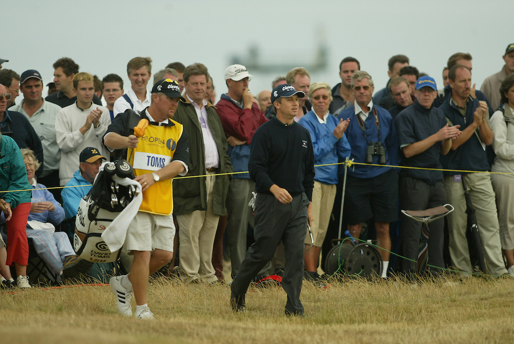 David Toms..Scott Gneiser, Caddie..2003 British Open..First Round..Royal St. George's Golf Club..Sandwich, Kent, England..Thursday, July 17  2003..photograph by Darren Carroll