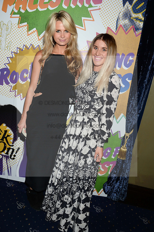Left to right, KATE ELSWORTH and HOLLIE BOWDEN at the Hoping Foundation's 'Rock On' Benefit Evening for Palestinian refuge children held at the Cafe de Paris, London on 20th June 2013.