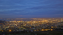 July 21, 2019 - View Of Cape Town At Night From Table Mountain, South Africa, Africa (Credit Image: © Carson Ganci/Design Pics via ZUMA Wire)