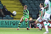Forest Green Rovers Jordan Simpson(12) crosses the ball during the EFL Trophy 3rd round match between Yeovil Town and Forest Green Rovers at Huish Park, Yeovil, England on 9 January 2018. Photo by Shane Healey.