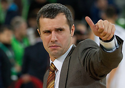 Miro Alilovic, assistant coach of Olimpija during basketball match between KK Union Olimpija and Unics Kazan (RUS) of 10th Round in Group D of Regular season of Euroleague 2011/2012 on December 21, 2011, in Arena Stozice, Ljubljana, Slovenia. Unics Kazan defeated Union Olimpija 76-63. (Photo by Vid Ponikvar / Sportida)