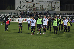 November 3, 2018 - Vercelli, Italy - Pro Vercelli's team after Saturday evening's match against Novara Calcio valid for the 10th day of the Italian Lega Pro championship  (Credit Image: © Andrea Diodato/NurPhoto via ZUMA Press)