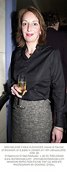 MISS MELANIE CABLE-ALEXANDER, friend of the Earl of Snowdon,at a party in London on 14th January 2002. 	OWL 20