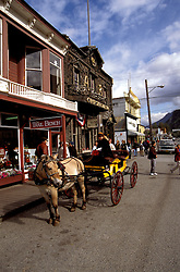 AK: Skagway, Alaska, town of Skagway   .Photo Copyright: Lee Foster, lee@fostertravel.com, www.fostertravel.com, (510) 549-2202.Image: akklon205