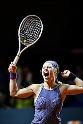22.04.2016, Porsche Arena, Stuttgart, GER, WTA Tour, Porsche Tennis Grand Prix Stuttgart, Viertelfinale, im Bild Laura Siegemund (GER) // Laura Siegemund of Germany during quarterfinals of Porsche Tennis Grand Prix of the WTA Tour at the Porsche Arena in Stuttgart, Germany on 2016/04/22. EXPA Pictures © 2016, PhotoCredit: EXPA/ Eibner-Pressefoto/ Michael Weber<br /> <br /> *****ATTENTION - OUT of GER*****