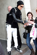 13.MAY.2011. LONDON<br /> <br /> TABOO OF THE BLACK EYED PEAS SIGNING AUTOGRAPHS LEAVING THE METROPOLITAN HOTEL IN CENTRAL LONDON<br /> <br /> BYLINE: EDBIMAGEARCHIVE.COM<br /> <br /> *THIS IMAGE IS STRICTLY FOR UK NEWSPAPERS AND MAGAZINES ONLY*<br /> *FOR WORLD WIDE SALES AND WEB USE PLEASE CONTACT EDBIMAGEARCHIVE - 0208 954 5968*