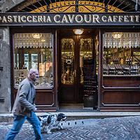 Bergamo, Italy - Pasticceria, Caffetteria Cavour in Via Gombito, Bergamo
