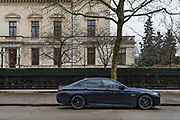 """London, England, UK, February 4 2018 - Kensington Palace Gardens, also called """"billionaire's row"""" is the most expensive address in Britain, with a average price for a mansion of £35. million."""
