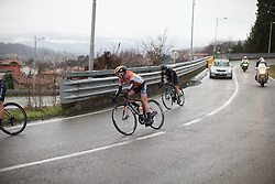 Megan Guarnier (USA) of Boels-Dolmans Cycling Team rides in the break during the Trofeo Alfredo Binda - a 131,1 km road race, between Taino and Cittiglio on March 18, 2018, in Varese, Italy. (Photo by Balint Hamvas/Velofocus.com)