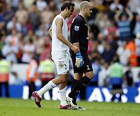 Photo: Olly Greenwood.<br />Tottenham Hotspur v Arsenal. The FA Barclays Premiership. 15/09/2007. Dimitar Berbatov and Paul Robinson walk off dejected