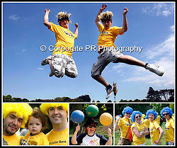 &quot;Get your Wig On&quot;<br /> Martin O'Connell &amp; Gary Lynch from Ulster Bank Walkinstown joined with hundreds of fellow Ulster Bank walkers and their friends bringing a splash of colour to leafy Phoenix Park as part of the inaugural Ulster Bank Wig Walk in aid of the Irish Cancer Society. Pic Andres Poveda  CPR.
