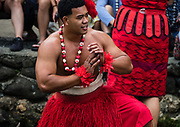 "Dancing of Tonga in the Canoe Pageant, ""Rainbows of Paradise."" The Polynesian Cultural Center (PCC) is a major theme park and living museum, in Laie on the northeast coast (Windward Side) of the island of Oahu, Hawaii, USA. The PCC first opened in 1963 as a way for students at the adjacent Church College of Hawaii (now Brigham Young University Hawaii) to earn money for their education and as a means to preserve and portray the cultures of the people of Polynesia. Performers demonstrate Polynesian arts and crafts within simulated tropical villages, covering Hawaii, Aotearoa (New Zealand), Fiji, Samoa, Tahiti, Tonga and the Marquesas Islands. The Rapa Nui (Easter Island) exhibit features seven hand-carved moai (stone statues). The PCC is run by the Church of Jesus Christ of Latter-day Saints (LDS Church). For this photo's licensing options, please inquire."