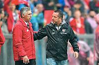 Spielende v.l. Trainer Carlo Ancelotti (Bayern), Trainer Markus Kauczinski (Ingolstadt)<br /> Muenchen, 17.09.2016, Fussball Bundesliga, FC Bayern Muenchen - FC Ingolstadt 04 3:1<br /> Bayrern München <br /> Norway only