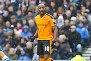 Wolverhampton Wanderers striker Benik Afobe (10) during the Sky Bet Championship match between Brighton and Hove Albion and Wolverhampton Wanderers at the American Express Community Stadium, Brighton and Hove, England on 1 January 2016. Photo by Phil Duncan.