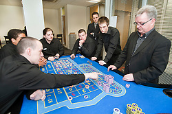 Trainees at the Genting Club Croupier School in Sheffield..13 June 2012.Image © Paul David Drabble