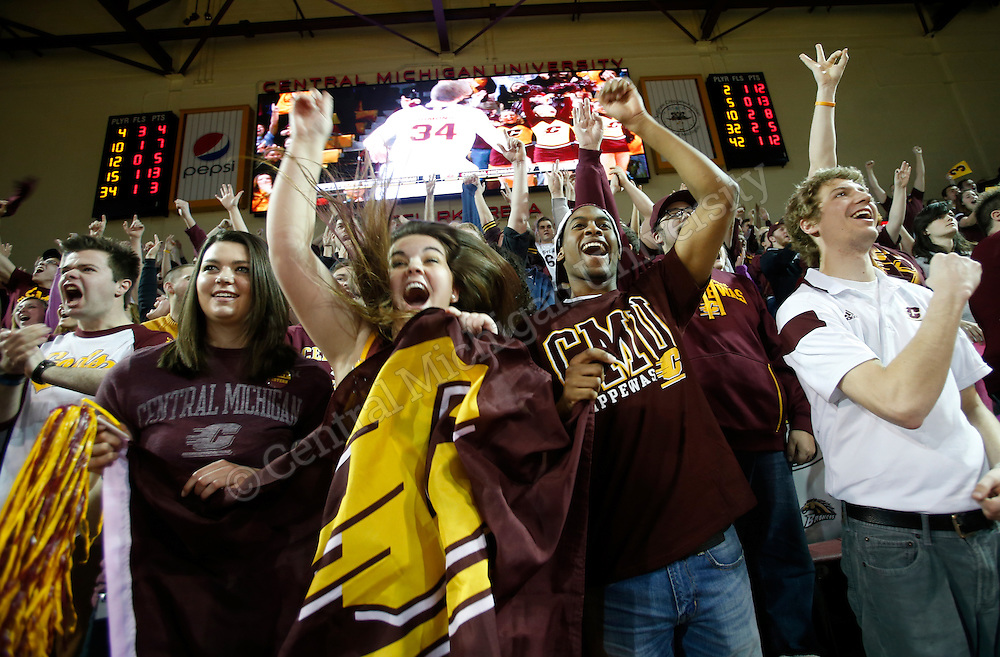 CENTRAL MICHIGAN University defeated rival Western Michigan University in mens basketball. Photo by Steve Jessmore/Central Michigan University