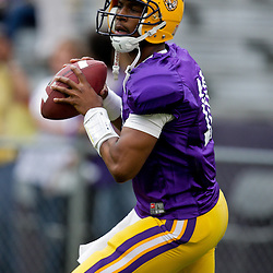 18 April 2009: LSU quarterback Russell Shepard (10) in action during the 2009 LSU spring football game at Tiger Stadium in Baton Rouge, LA.