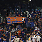 New York Mets fans during the New York Mets Vs Los Angeles Dodgers, game four of the NL Division Series at Citi Field, Queens, New York. USA. 13th October 2015. Photo Tim Clayton