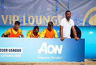 CATANIA, ITALY - AUGUST 17: Euro Beach Soccer League match between England and Netherlands on August 17, 2019 in Catania, Italy. (Photo by Quality Sport Images)