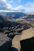 An elevated view of a part of the Deschutes River canyon in Central Oregon