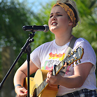 Shelby Brown Plays in Gulf Shores Alabama. Nov 2016. Oysterfest held at the Hangout. Brown is a native of Elberta,Alabama. She was a contestant on The Voice.