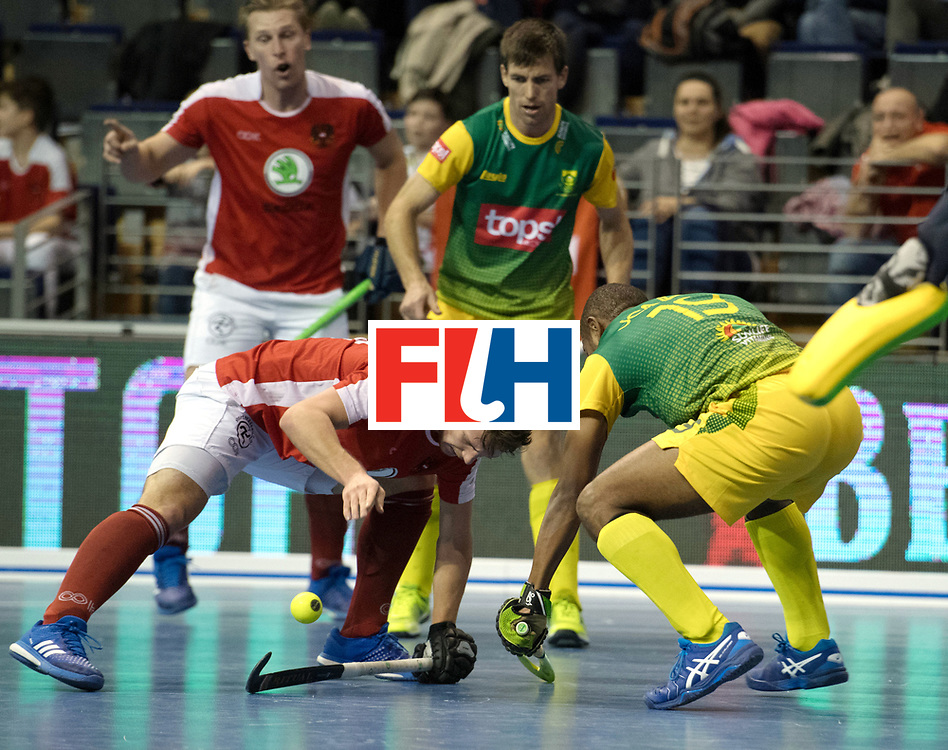 BERLIN - Indoor Hockey World Cup<br /> Austria - South Africa<br /> foto: <br /> WORLDSPORTPICS COPYRIGHT FRANK UIJLENBROEK