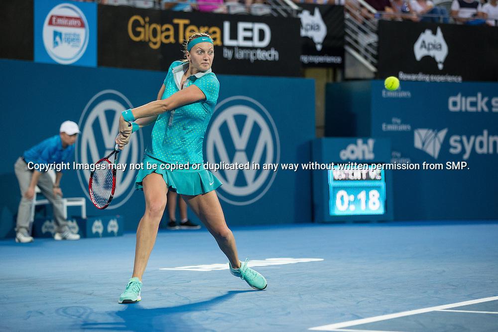 PETRA KVITOVA (CZE) during Day 4 of the 2015 Apia Sydney International played at Sydney Olympic Park Tennis Centre, Sydney, Australia, Wednesday, 14 Jan 2015. Photo: Murray Wilkinson (SMP Images).