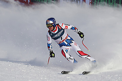 11.02.2019, WM Strecke, Aare, SWE, FIS Weltmeisterschaften Ski Alpin, alpine Kombination, Herren, Slalom, im Bild Alexis Pinturault (FRA) gewinnt die Goldmedaille in der Super Kombination // Alexis Pinturault (FRA) gewinnt die Goldmedaille in der Super Kombination reacts after the Slalom competition of the men's alpine combination for the FIS Ski World Championships 2019. WM Strecke in Aare, Sweden on 2019/02/11. EXPA Pictures © 2019, PhotoCredit: EXPA/ SM<br /> <br /> *****ATTENTION - OUT of GER*****