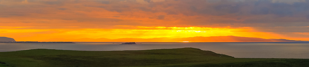 Sunset overlooking the Inishowen Peninsula from the Causeway Hotel