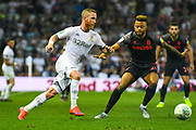 Leeds United midfielder Adam Forshaw (4) during the EFL Cup match between Leeds United and Stoke City at Elland Road, Leeds, England on 27 August 2019.