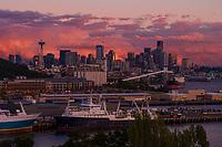 Smith Cove & Seattle Skyline @ Sunset