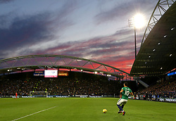 Sunset at the John Smith's Stadium - Mandatory by-line: Matt McNulty/JMP - 04/11/2017 - FOOTBALL - The John Smith's Stadium - Huddersfield, England - Huddersfield Town v West Bromwich Albion - Sky Bet Championship