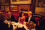 GUY DELLAL; MOLLIE DENT-BROCKLEHURST; JAN OLESON, Dinner hosted by Elizabeth Saltzman for Mario Testino and Kate Moss. Mark's Club. London. 5 June 2010. -DO NOT ARCHIVE-© Copyright Photograph by Dafydd Jones. 248 Clapham Rd. London SW9 0PZ. Tel 0207 820 0771. www.dafjones.com.