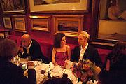 GUY DELLAL; MOLLIE DENT-BROCKLEHURST; JAN OLESON, Dinner hosted by Elizabeth Saltzman for Mario Testino and Kate Moss. Mark's Club. London. 5 June 2010. -DO NOT ARCHIVE-© Copyright Photograph by Dafydd Jones. 248 Clapham Rd. London SW9 0PZ. Tel 0207 820 0771. www.dafjones.com.