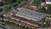aerial photograph of Aviva Multi Storey car park Queens Rd Norwich, Norfolk NR1 3PR