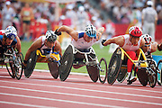 David Weir of Great Britain in the men's 1500 metre T54 semi final in The Bird's Nest National Stadium competeing at the Paralympic games, Beijing, China. 15th September 2008