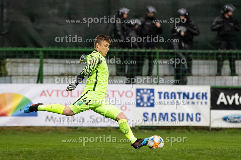 Nejc Vidmar of Olimpija during football match between NŠ Mura and NK Olimpija Ljubljana in 26th Round of Prva liga Telekom Slovenije 2018/19, on April 11, 2019 in Fazanerija, Murska Sobota, Slovenia. Photo by Blaž Weindorfer / Sportida