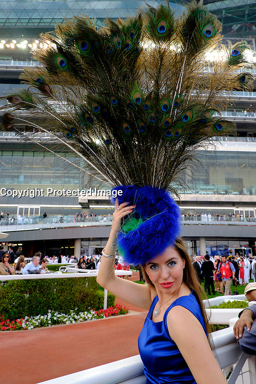The 2014 Dubai World Cup horse racing festival at Meydan Racecourse in Dubai United Arab Emirates