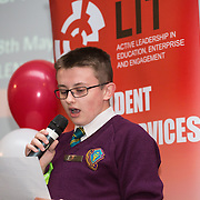 18.05.2016<br /> Limerick Institute of Technology (LIT) hosted a celebration of community and voluntary engagement in the LIT Millennium Theatre for the GO4IT & Give Graduation ceremony.<br /> <br /> Speaking at the event was GO4IT graduate Luke Hogan. Picture: Alan Place/Fusionshooters