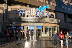 View of entrance to Wellgate shopping centre in Dundee, Scotland, United Kingdom