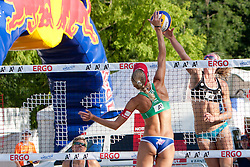 Muriel Graessli of Switzerland vs Tamsin Hinchley of Australia at A1 Beach Volleyball Grand Slam presented by ERGO tournament of Swatch FIVB World Tour 2012, on July 18, 2012 in Klagenfurt, Austria. (Photo by Matic Klansek Velej / Sportida)