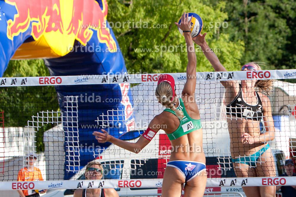 Muriel Graessli of Switzerland vs Tamsin Hinchley of Australia at A1 Beach Volleyball Grand Slam presented by ERGO tournament of Swatch FIVB World Tour 2012, on July 18, 2012 in Klagenfurt, Austria. (Photo by Matic Klansek Velej / Sportida)