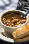 Seafood gumbo at Rip's on the Lake restaurant; Mandeville, Louisiana