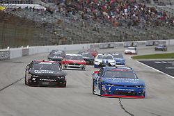 November 3, 2018 - Ft. Worth, Texas, United States of America - Elliott Sadler (1) battles for position during the O'Reilly Auto Parts Challenge at Texas Motor Speedway in Ft. Worth, Texas. (Credit Image: © Justin R. Noe Asp Inc/ASP via ZUMA Wire)