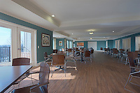 Architectural interior image of the Greens at Irvington Mews community center by Jeffrey Sauers of Commercial Photographics