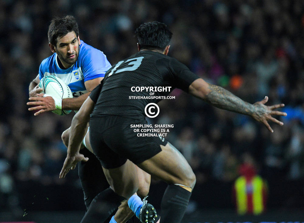 Matias Orlando in action during The Rugby Championship match between the NZ All Blacks and Argentina Pumas at FMG Stadium in Hamilton, New Zealand on Saturday, 10 September 2016. Photo: Dave Lintott / lintottphoto.co.nz