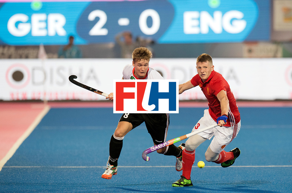 Odisha Men's Hockey World League Final Bhubaneswar 2017<br /> Match id:01<br /> Germany v England<br /> Foto: Julius Meyer (Ger) and Henry Weir (Eng) <br /> WORLDSPORTPICS COPYRIGHT FRANK UIJLENBROEK