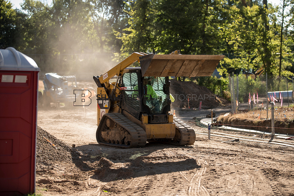9/30/16 9:46:12 AM -- Lodge construction update. Mist Mountain Foundations, Peggy's Pond Rock install. <br /> <br /> Photo by Shane Bevel